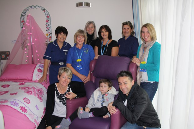Sophie Opens Childrens Rooms at Hospice