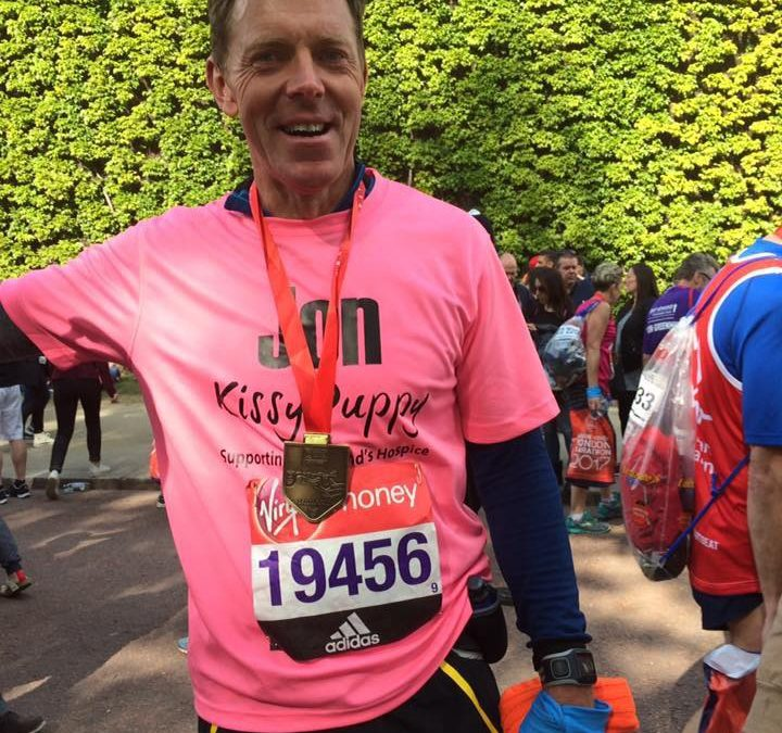 Jon Brown Finishes London Marathon