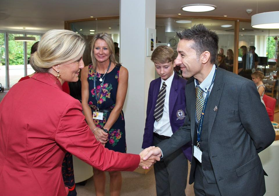 HRH Sophie, Countess of Wessex visits Earl Mountbatten Hospice